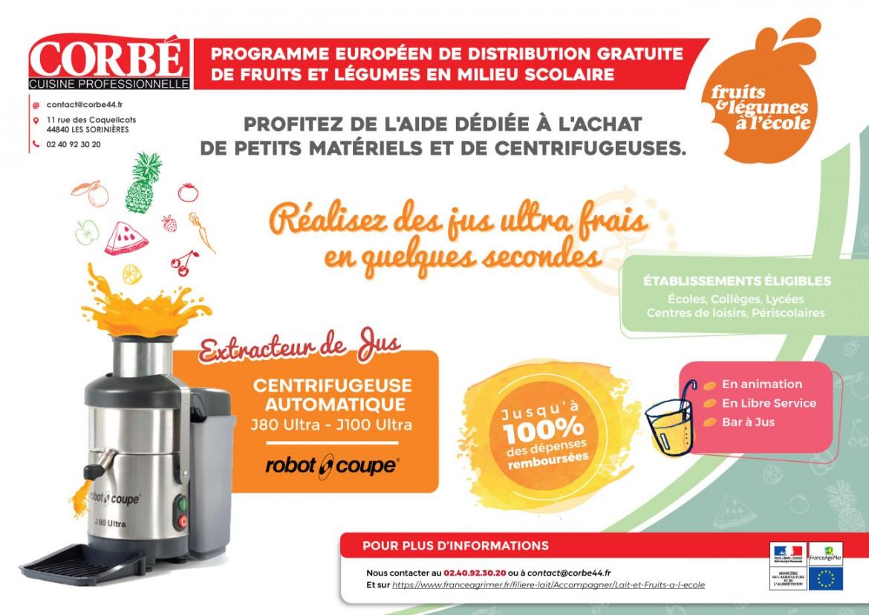 Programme-Distribution-Fruits-Légumes-Ecole-Jus-Frais-Centrifugeuse-Robot-Coupe