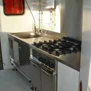 SDIS Lozère : Vue del a partie cuisson et laverie