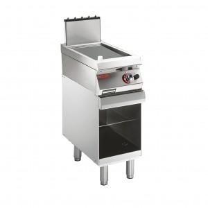TOP GRILLADE GAZ PLAQUE LSISE SUR SOUBASSEMENT OUV pour cuisine professionnelle