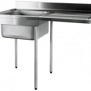 PLONGE 1800X700 - SPECIALE MACHINE A LAVER - PIEDS pour cuisine professionnelle
