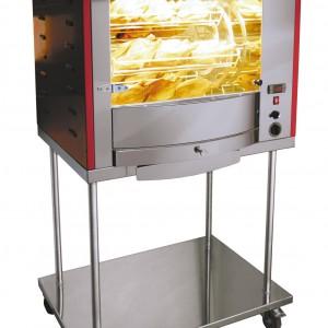 ROTISSOIRE FUSION 5 BALANCELLES AVEC CHASSIS INOX pour cuisine professionnelle