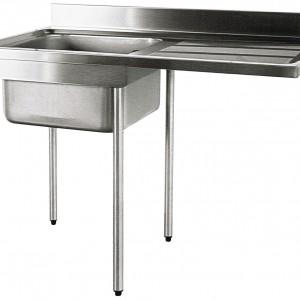 PLONGE 1200X700 - SPECIALE MACHINE A LAVER - PIEDS pour cuisine professionnelle