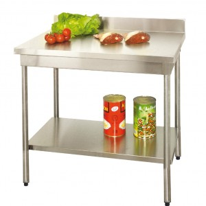 TABLE DEMONTABLE A BORDS DROITS EN INOX AISI 304L