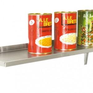 ETAGERE MURALE PLEINE 2000X400 3 CONSOLES pour cuisine professionnelle