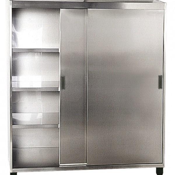 ARMOIRE HAUTE PORTE COULISSANT 1800X600X1900 pour cuisine professionnelle