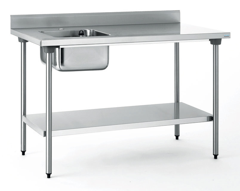Table du chef chr 700x1200 bac a gauche sans robin for Table cuisine pro