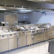 Vue de la zone cuisson, piano central