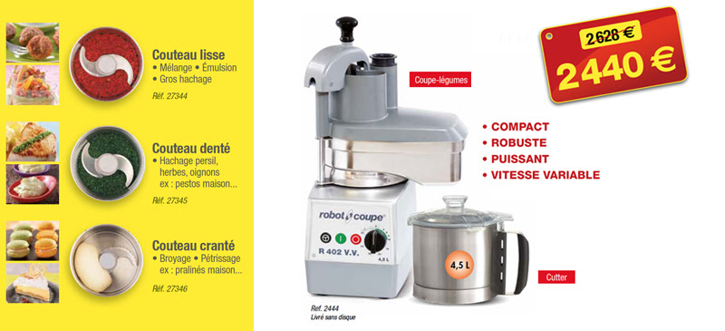 Robot-coupe-3 couteaux offerts
